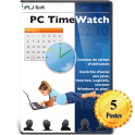 PC Time Watch - Licence 5 utilisateurs