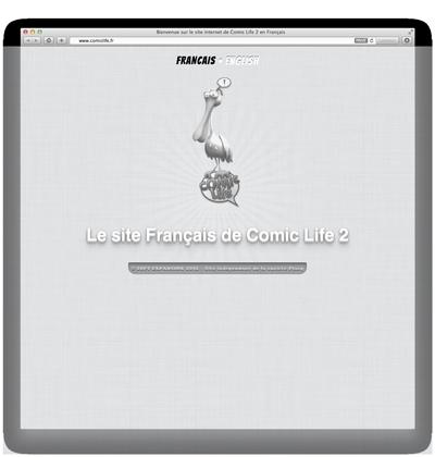 Image de la page d'accueil du site www.comiclife.fr